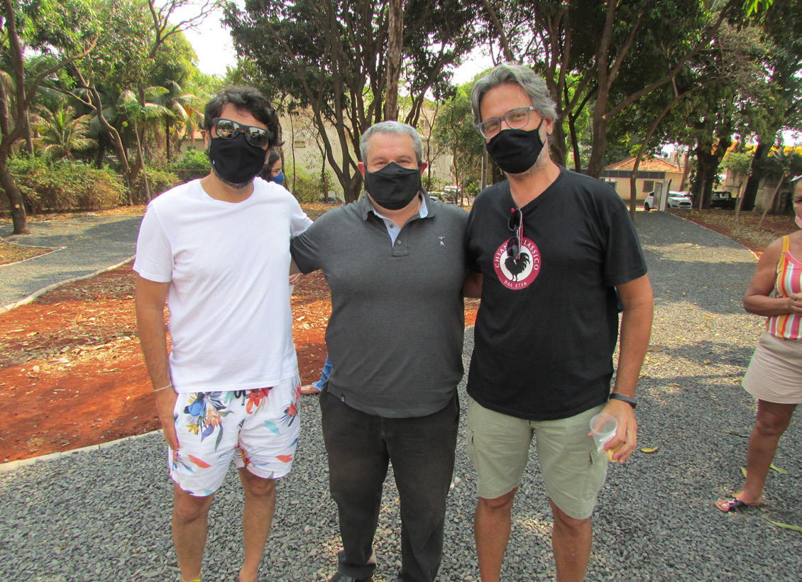 Arthur Neto, Danilo Alarcon e Stéfano Ciaschi